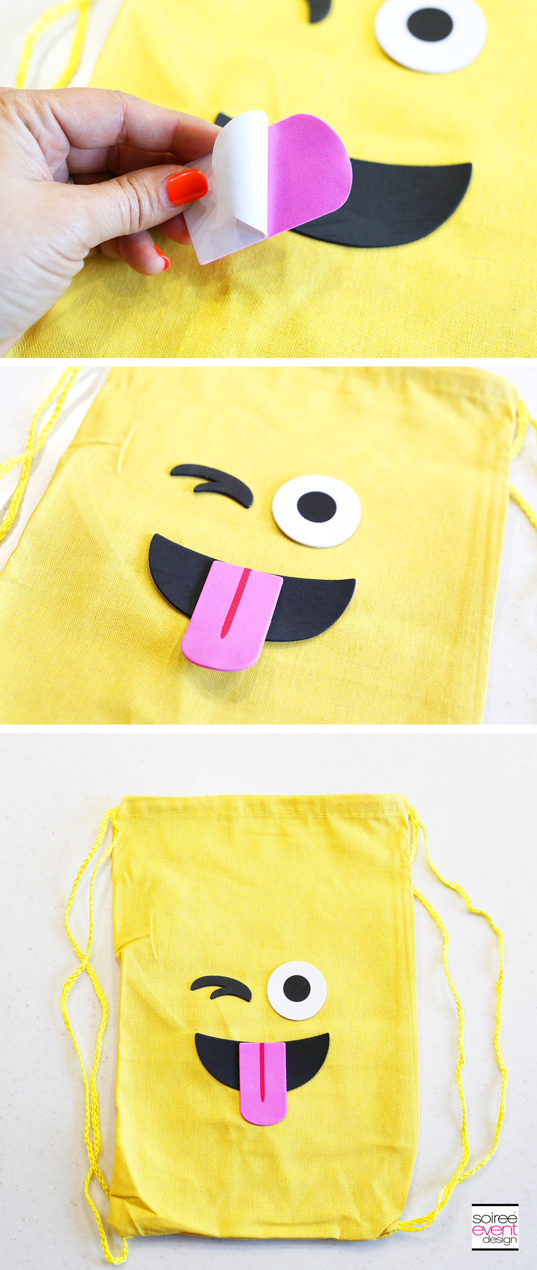 Emoji Backpacks Party Favors - Step 2