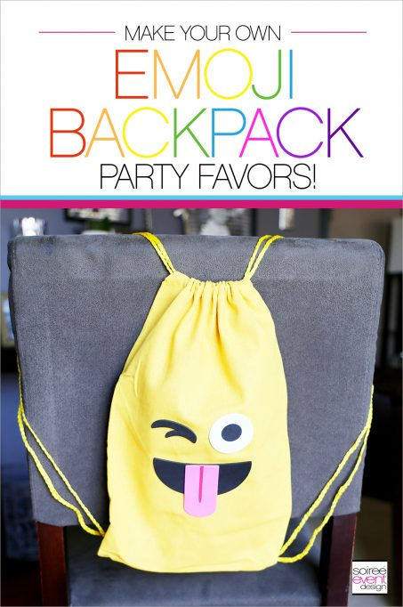 DIY Emoji Backpacks Party Favors!