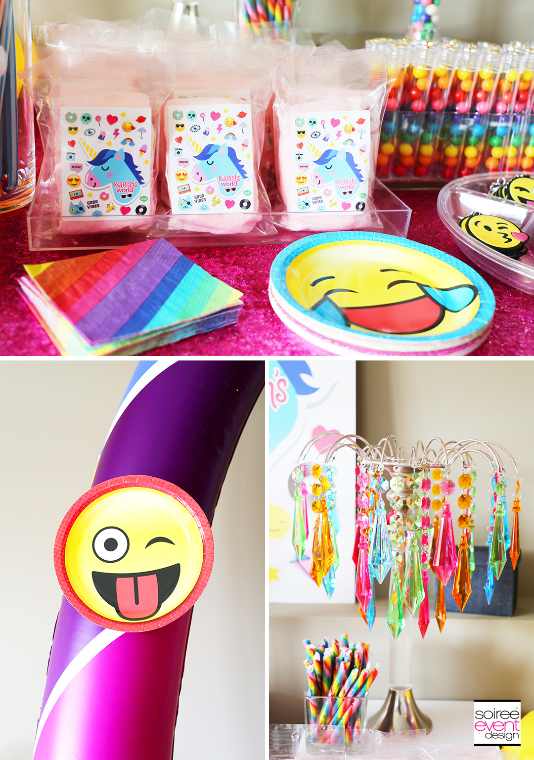 Rainbow Unicorn Emoji Party Ideas - Emoji Decorations