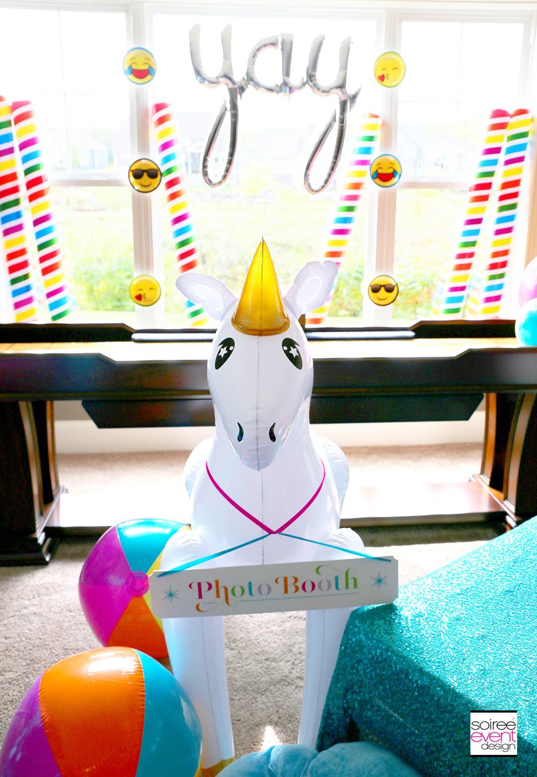 Rainbow Unicorn Emoji Party Ideas - Emoji Plates
