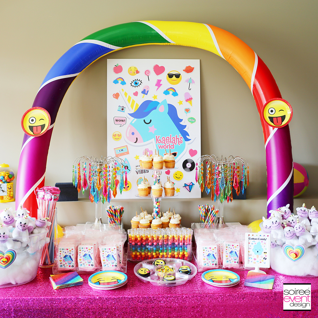 Rainbow Unicorn Emoji Party Ideas IG