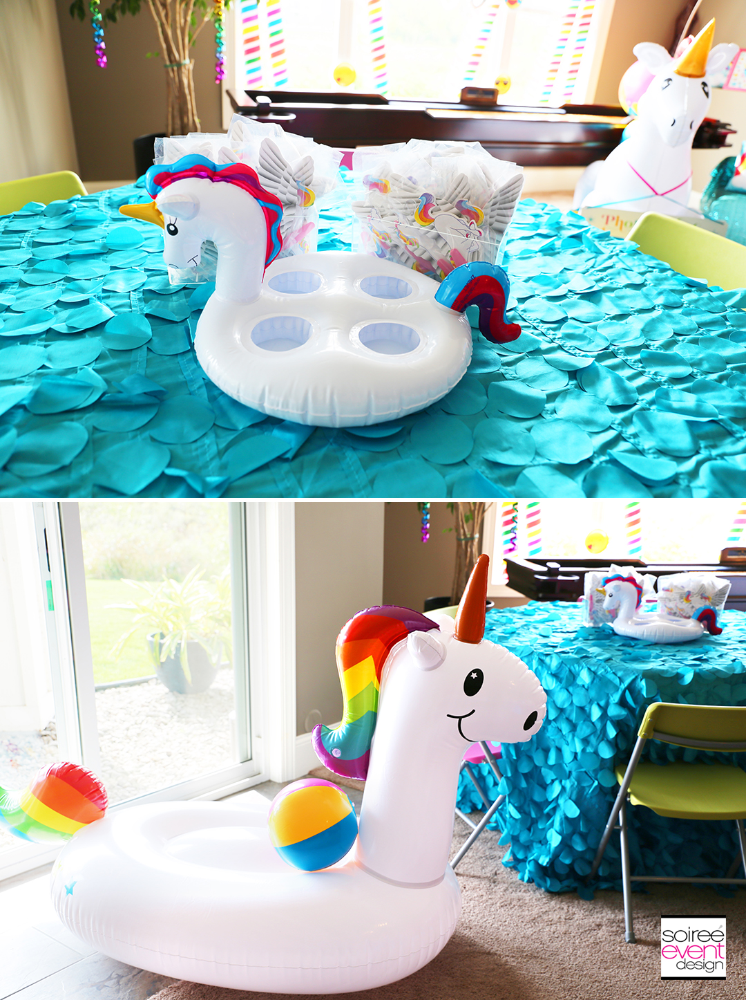 Rainbow Unicorn Emoji Party Ideas - Inflatables