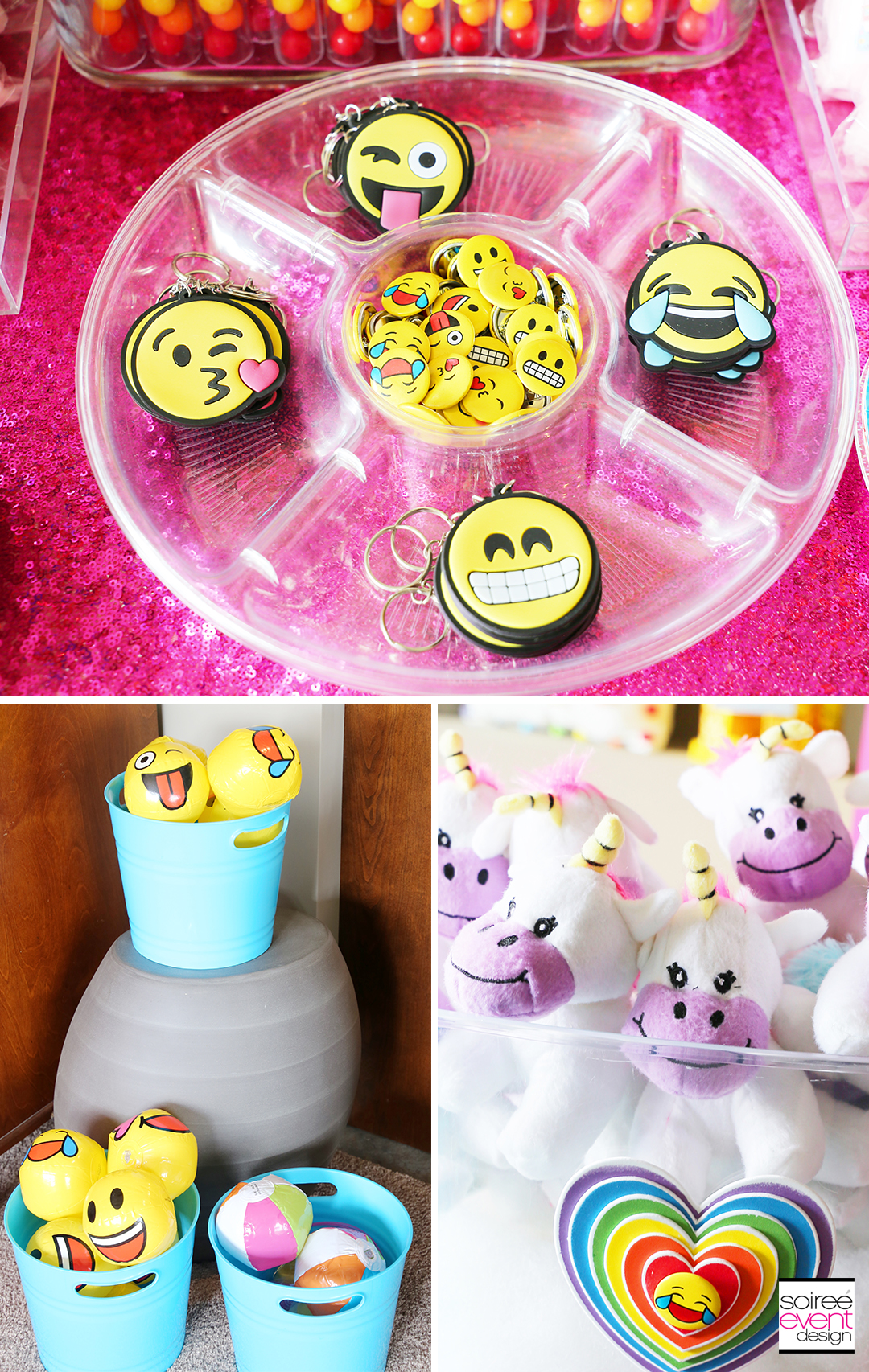 Rainbow Unicorn Emoji Party Ideas - Party Favors