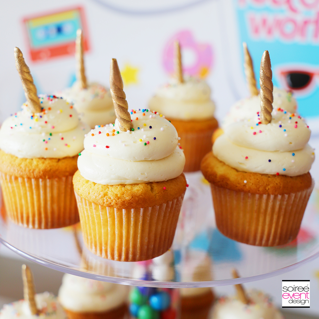Rainbow Unicorn Emoji Party Ideas - Unicorn Cupcake Topper