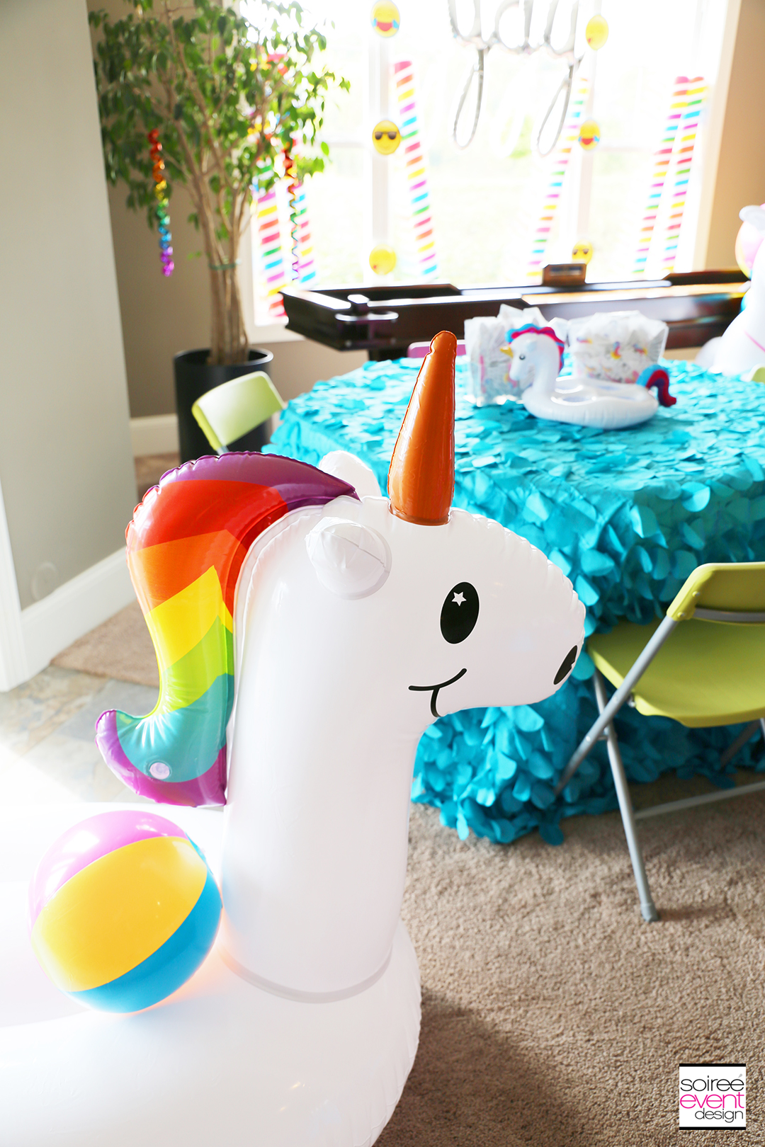 Rainbow Unicorn Emoji Party Ideas - Unicorn Decoration