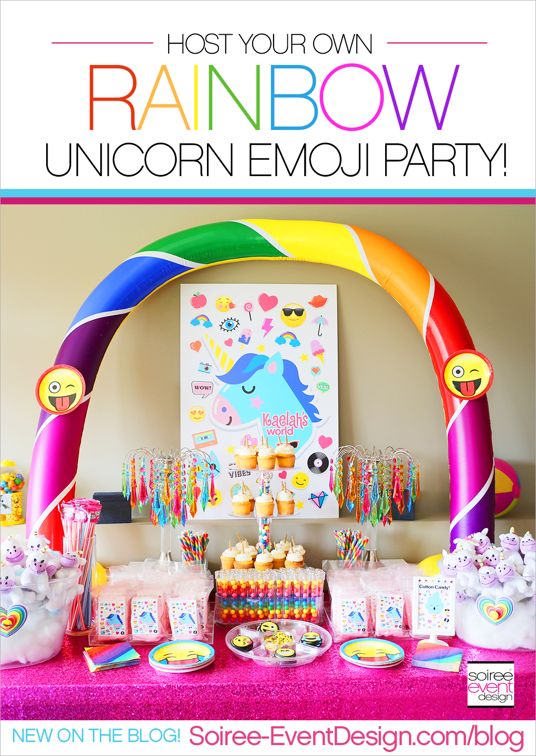 Rainbow Unicorn Emoji Party Ideas