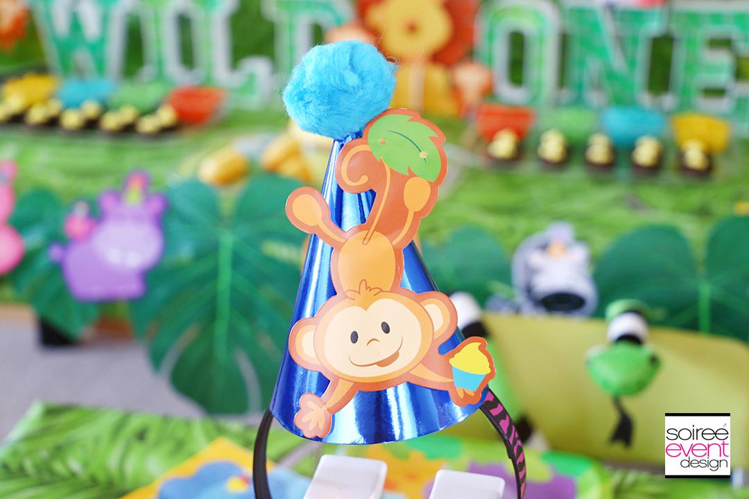 Safari First Birthday Party Ideas - DIY Monkey Headbands