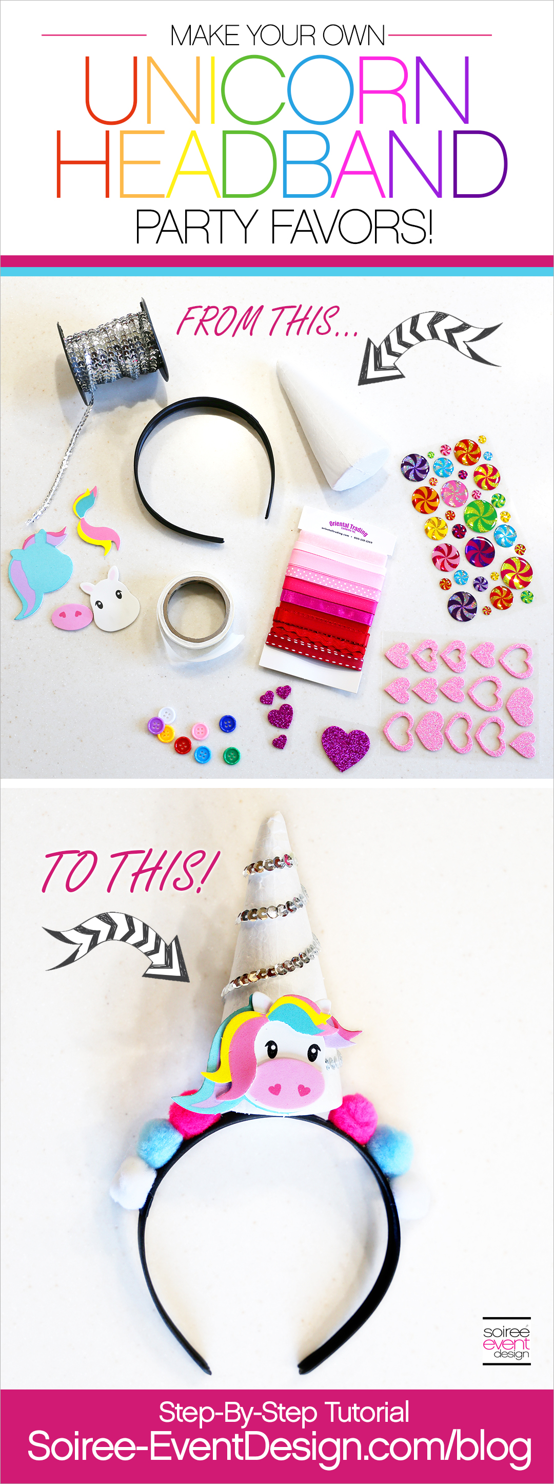 Unicorn Headbands Party Favors Tutorial