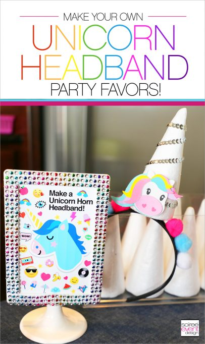 Make Your Own Unicorn Headbands Party Favors