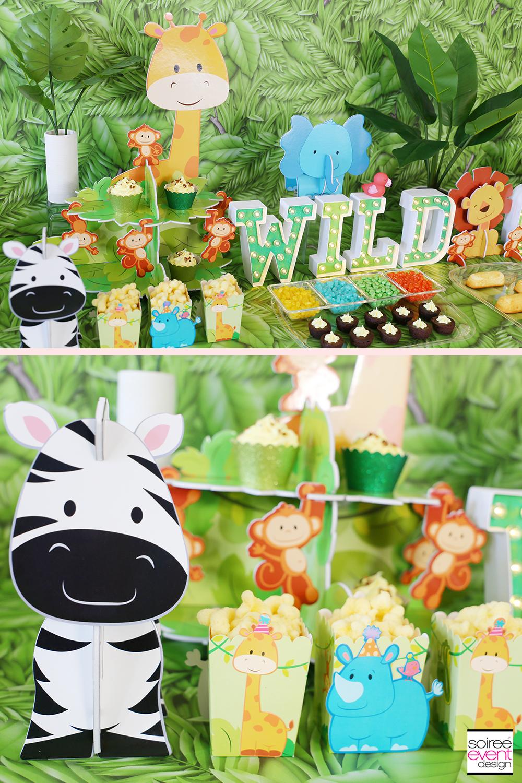 Wild ONE Safari First Birthday Party Ideas - Dessert Table