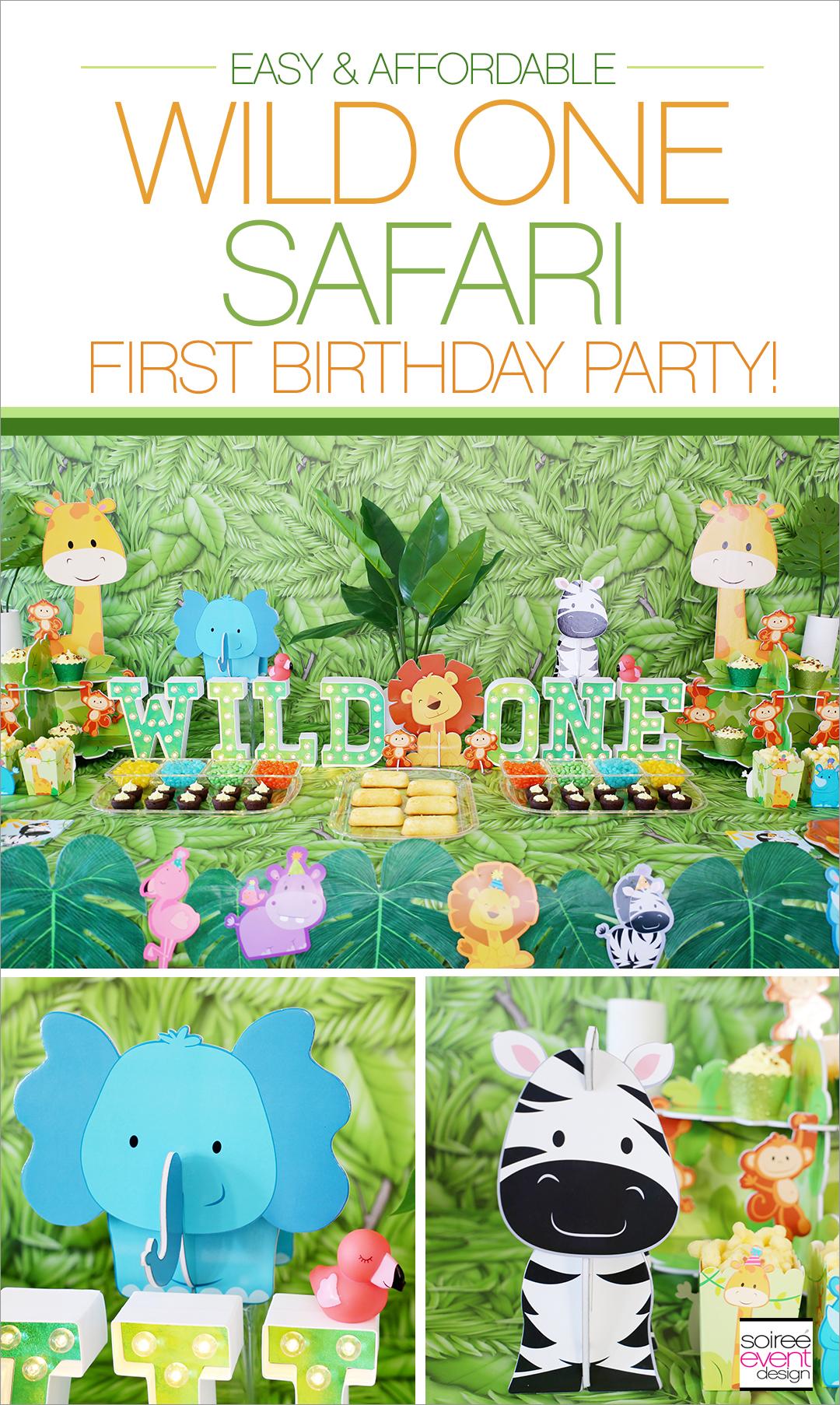 Wild ONE Safari First Birthday Party Ideas