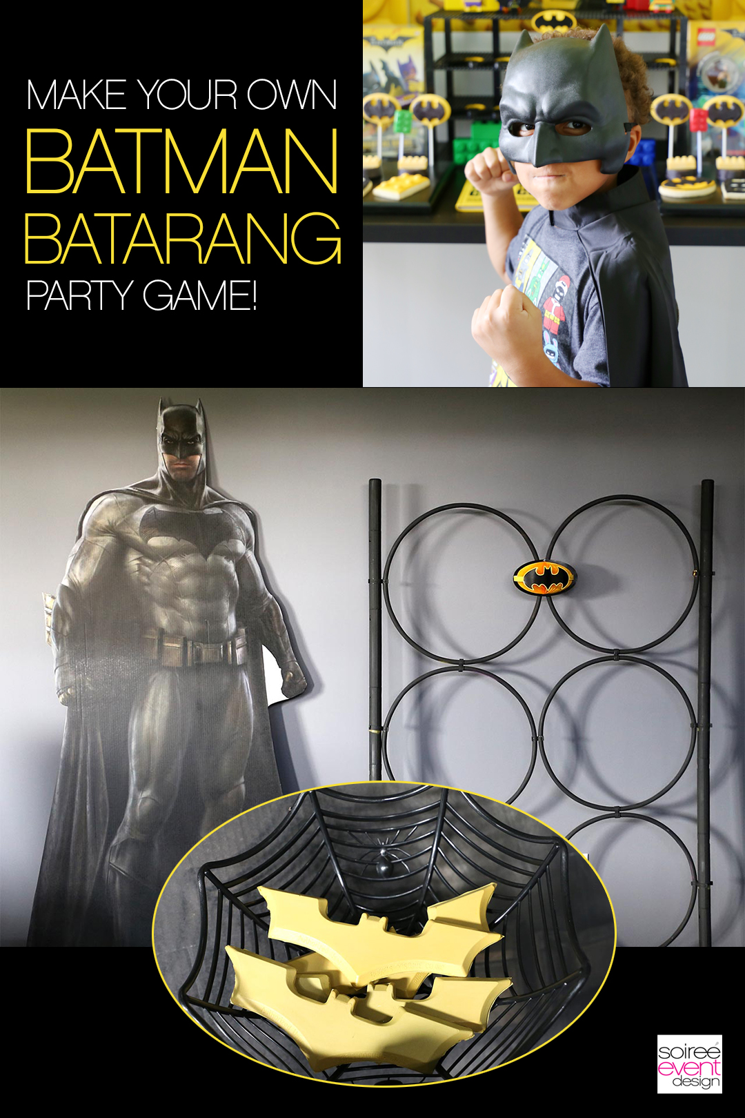 LEGO Batman Party Activites - DIY Batman Batarang Game