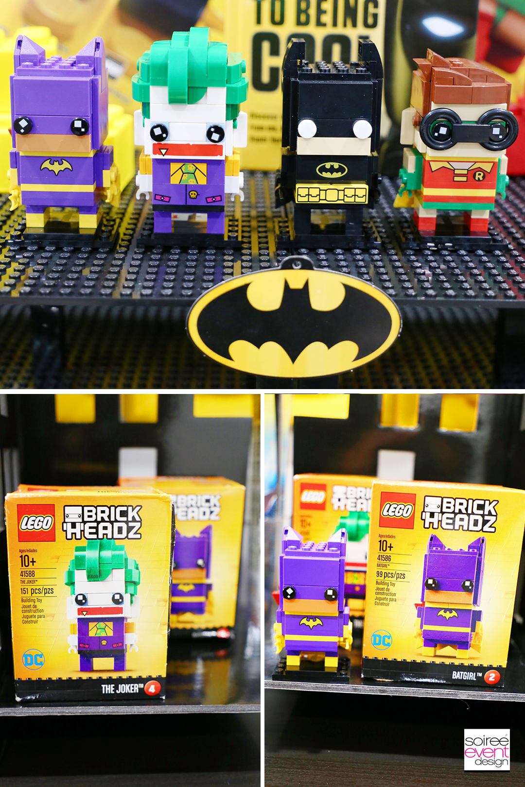 Lego Batman Party Favors Ideas - Lego Batman Brick Headz