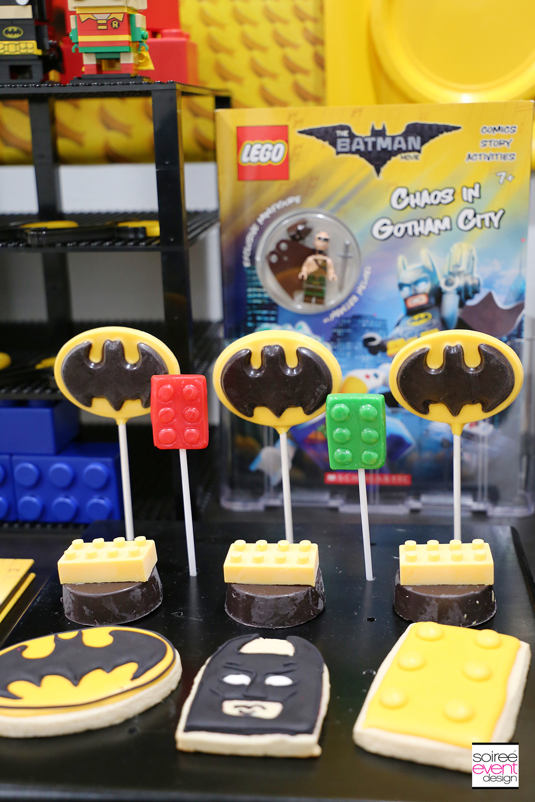 Lego Batman Party Ideas - Batman Desserts