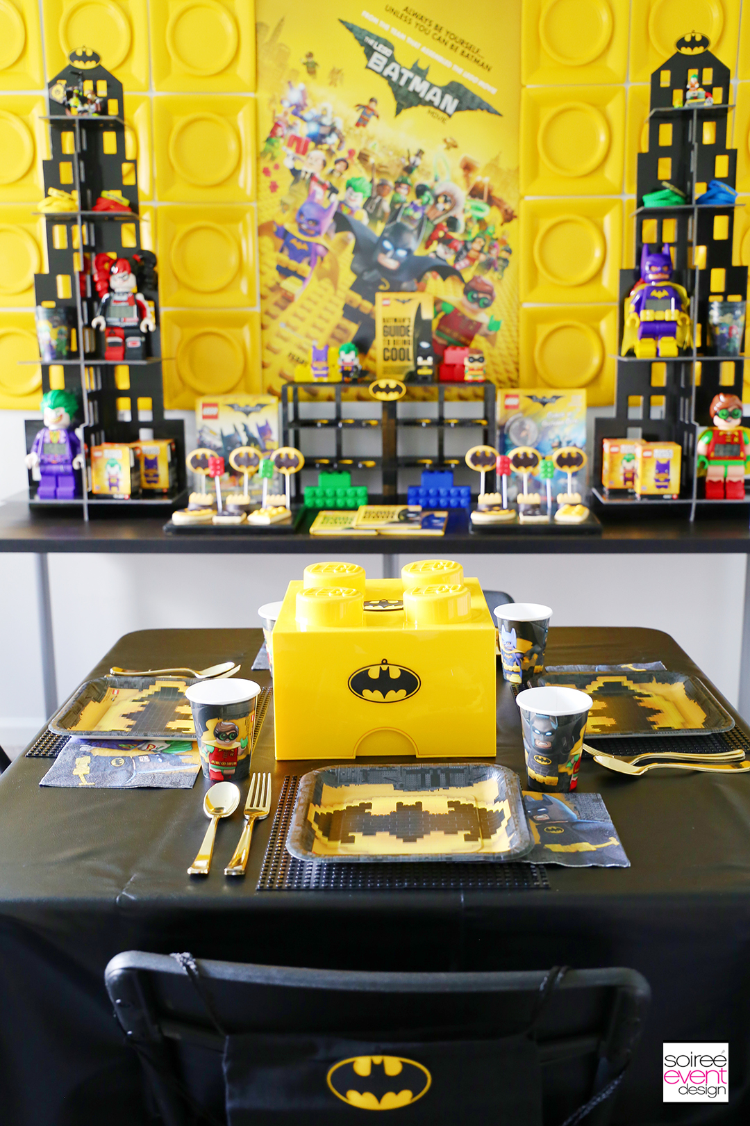 Lego Batman Party Ideas - Batman Dining Table