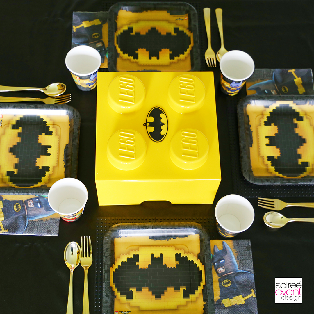Lego Batman Party Ideas - Batman Party Dining Table