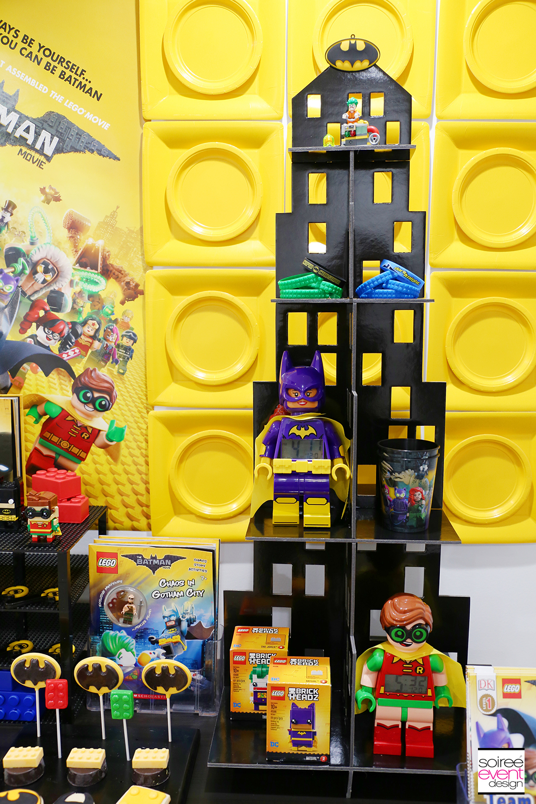 Lego Batman Party Ideas - Batman Party Favor Table