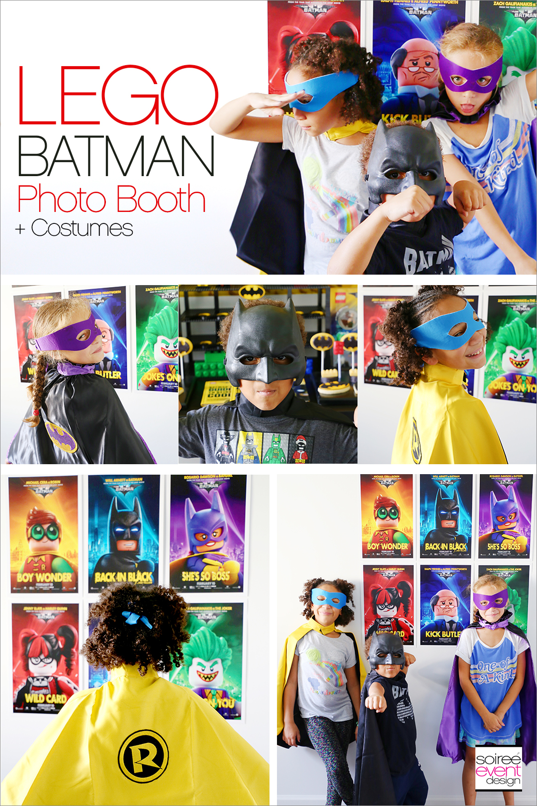 Lego Batman Party Ideas - Batman Photo Booth - Soiree Event Design