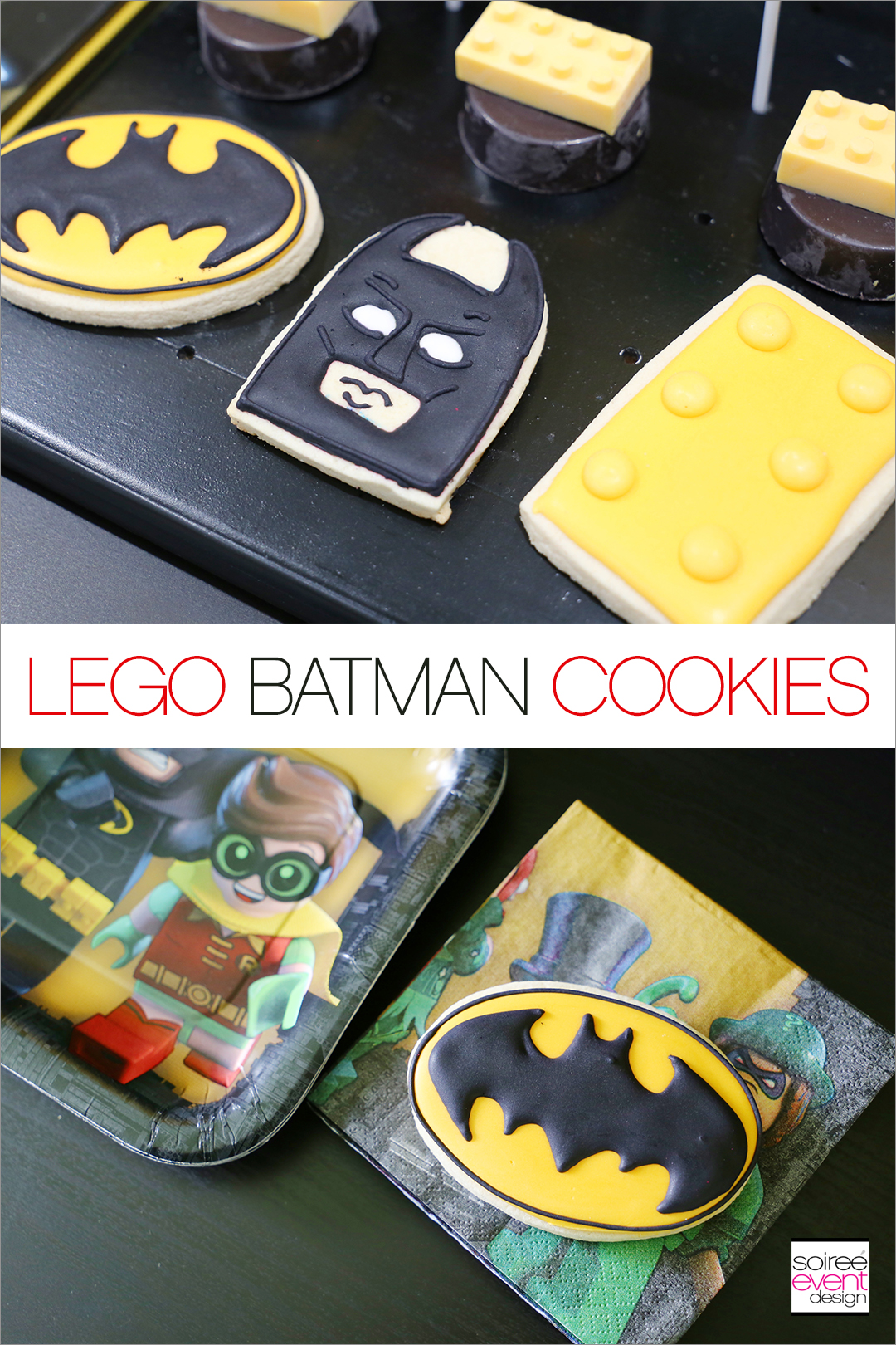 Lego Batman Party Ideas - Lego Batman Cookies