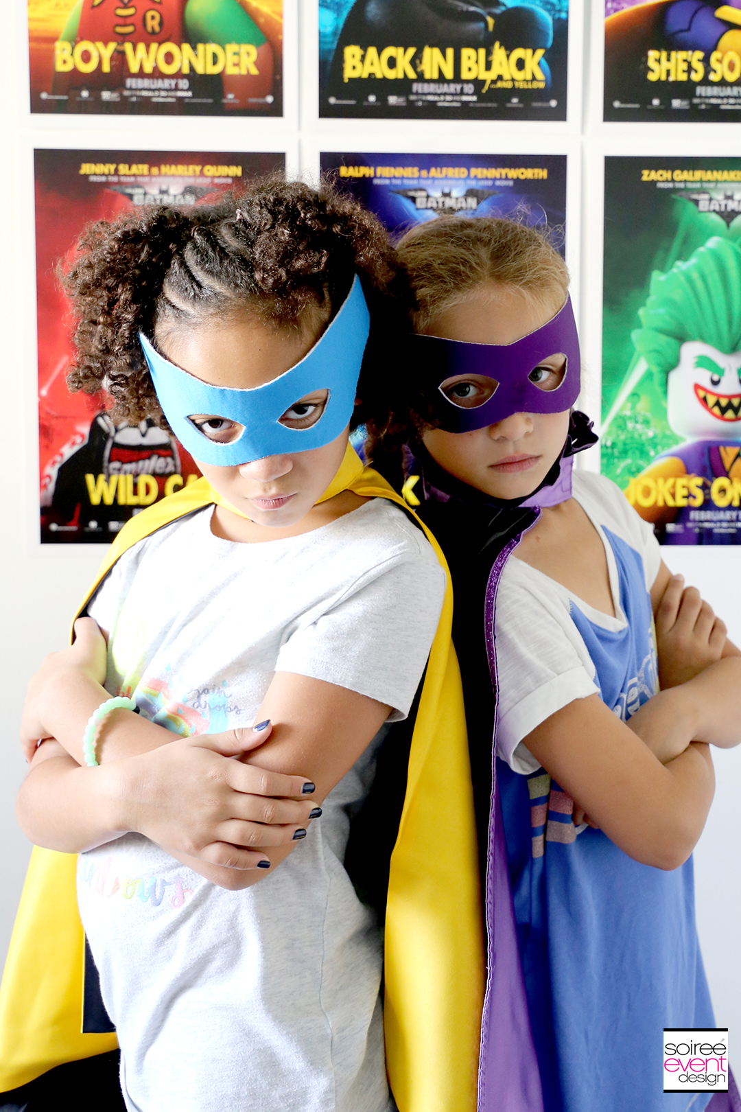 Lego Batman Party Photo Booth - Superhero Costumes for Girls 2