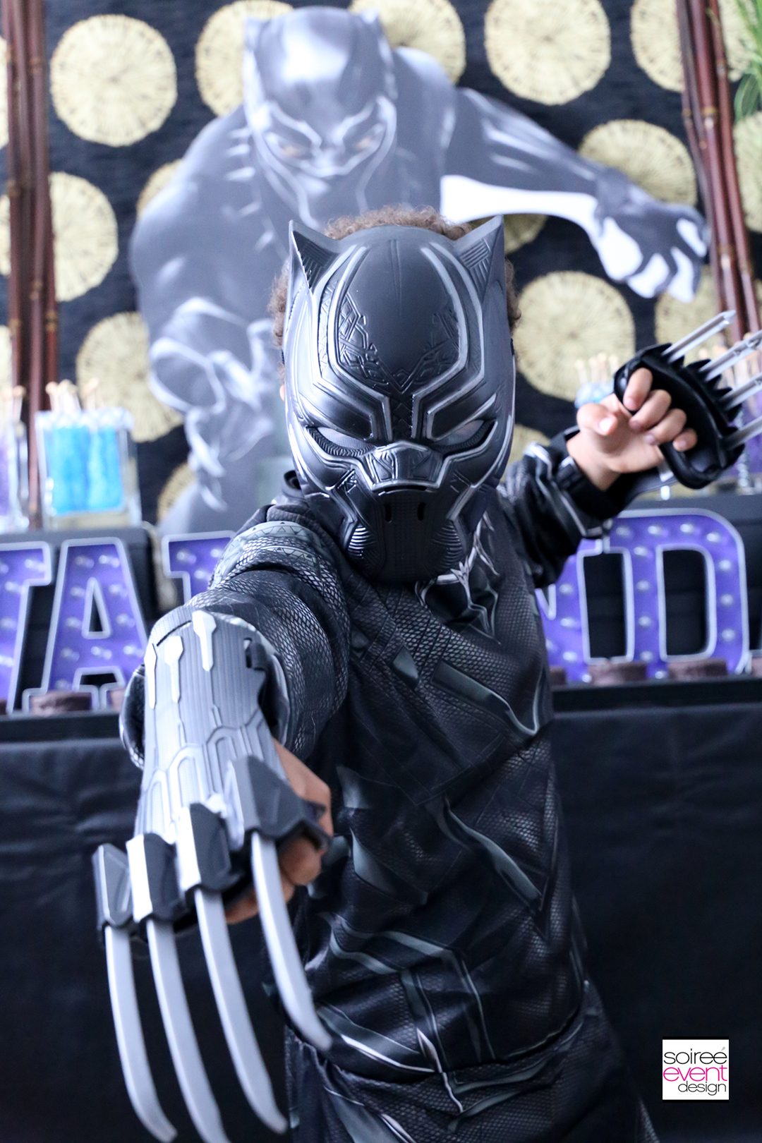 Black Panter Party Ideas - Black Panther Costumes are perfect to set the scene for a MARVEL Black Panther Party