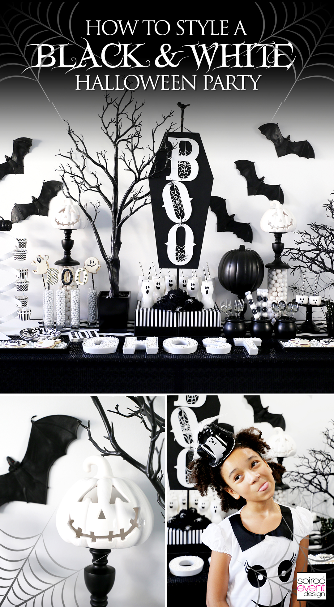 Black and White Halloween Party Ideas