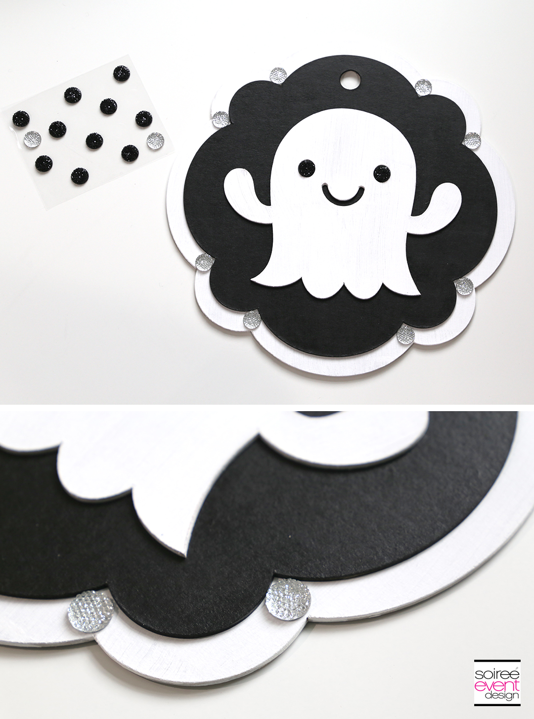 Cricut Halloween Ideas - DIY Ghost Door Sign - Step 10