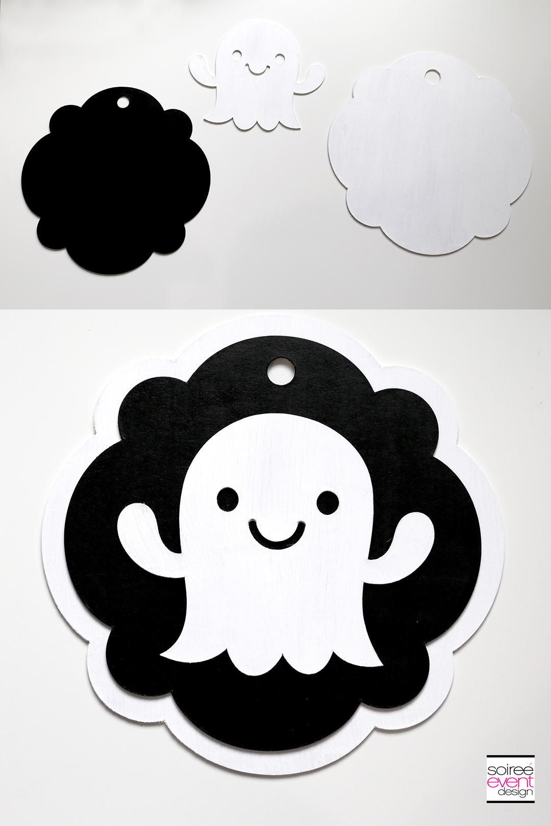 Cricut Halloween Ideas - DIY Ghost Door Sign - Step 9