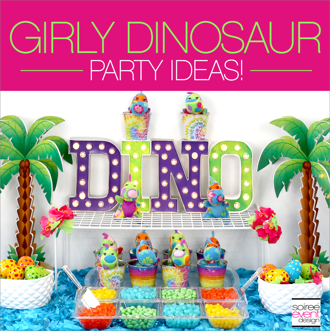 Girly Dinosaur Party Ideas - Soiree Event Design