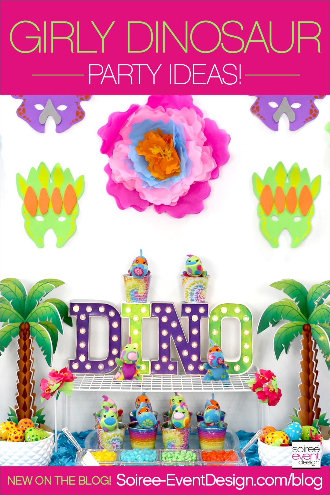 Girly Dinosaur Party Ideas