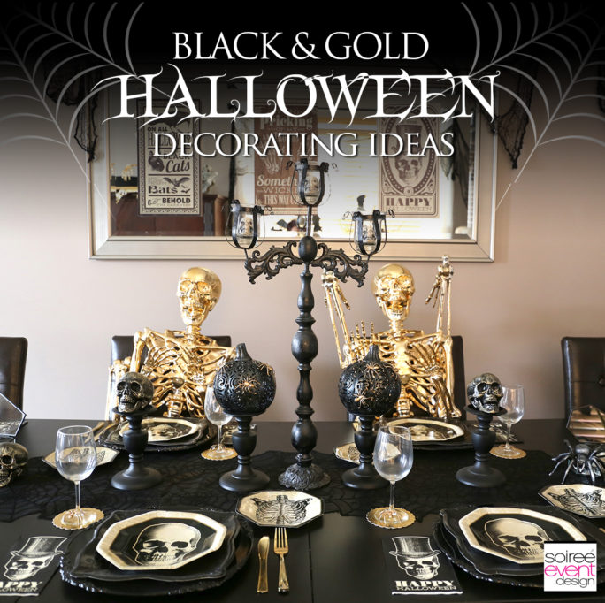 Black and Gold Halloween Decorating Ideas