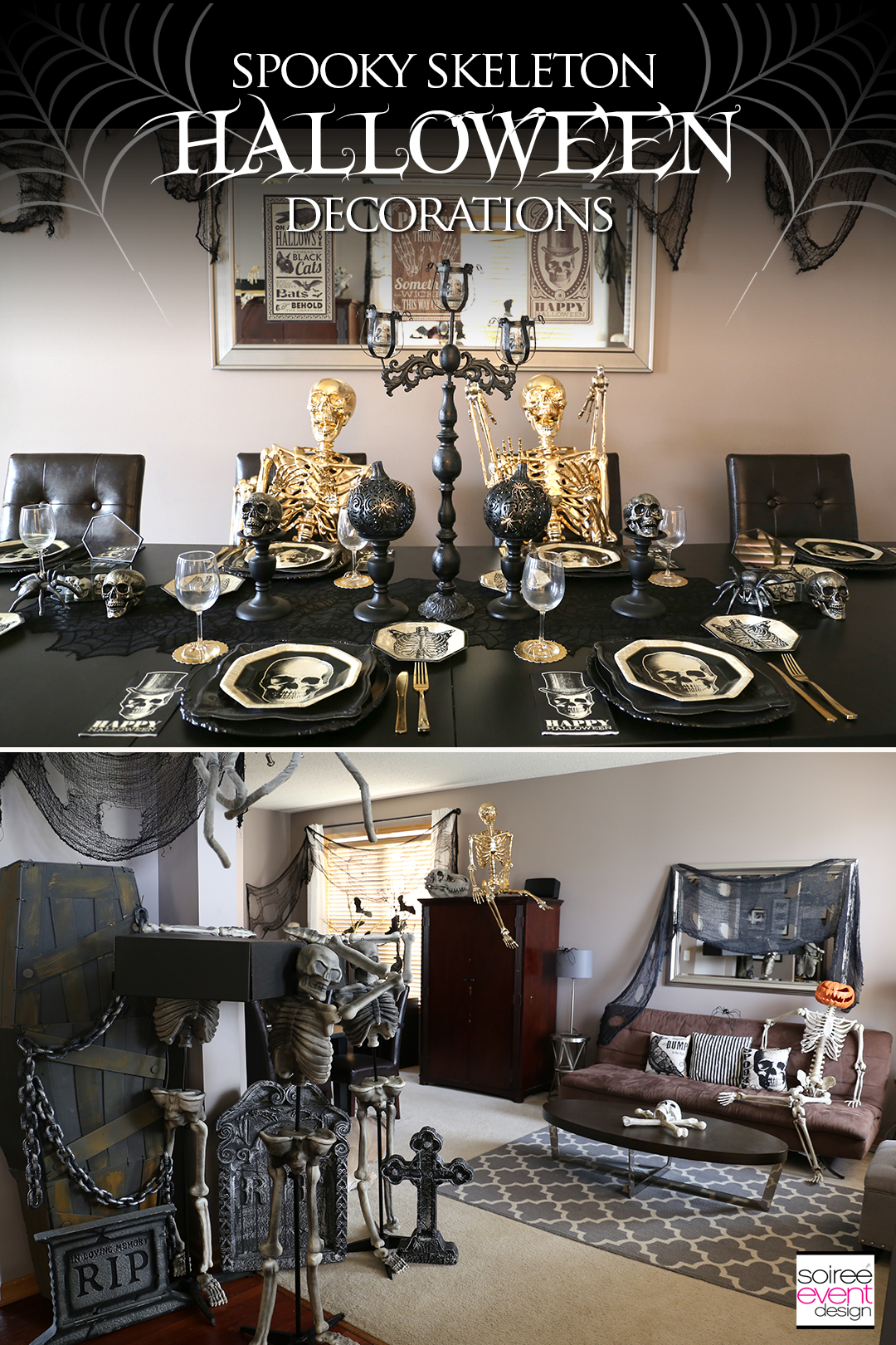 Black and Gold Halloween Decorating Ideas - Home