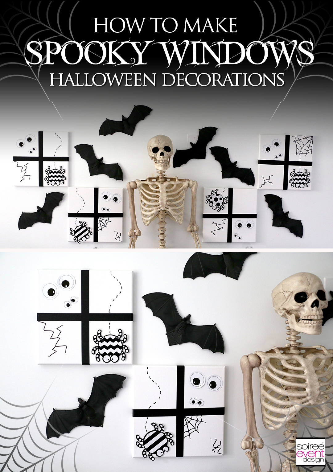 DIY Spooky Windows Halloween Decorations