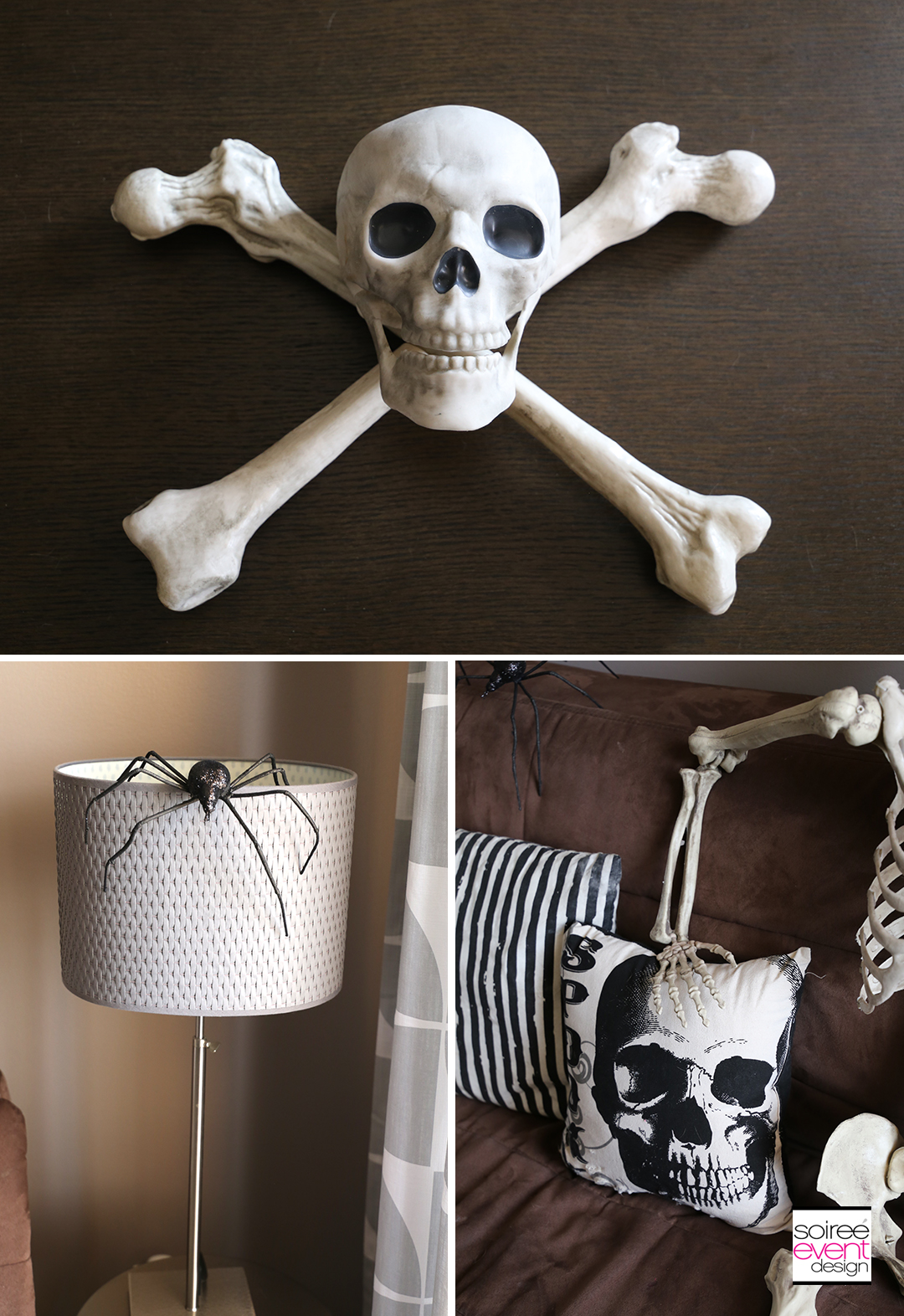 Vintage Halloween Decorating Ideas - Crossbones