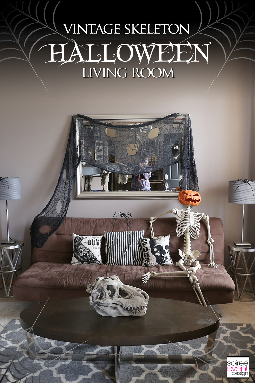 Vintage Halloween Decorating Ideas - Living Room