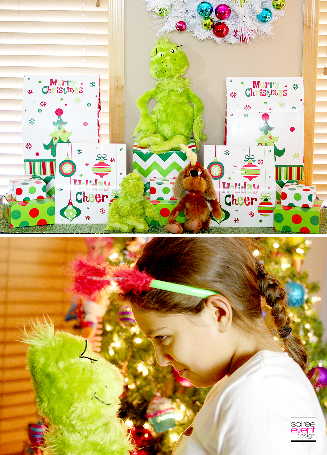 Ginch Party Ideas - Grinch Gift Table