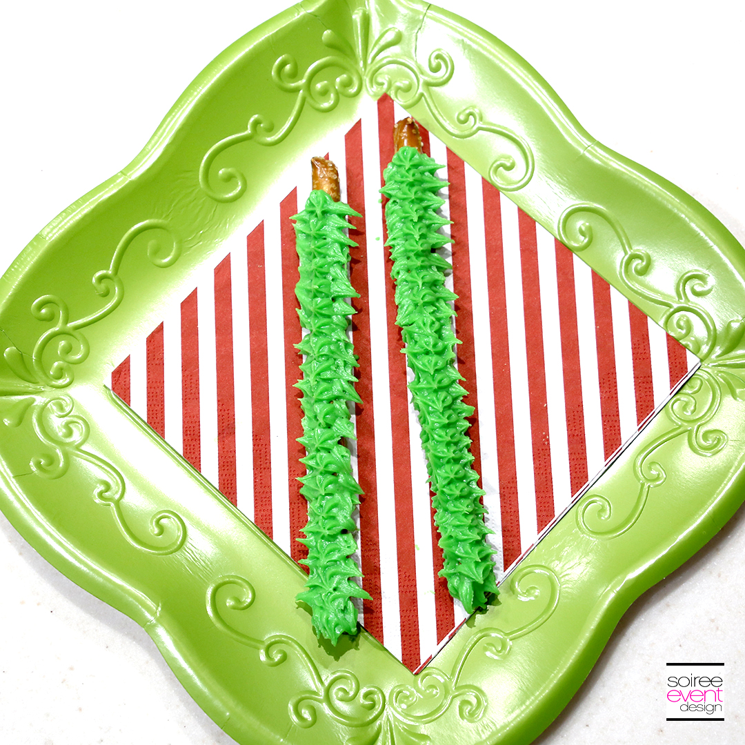 Grinch Dessert Ideas - Grinch Fingers Pretzels 1