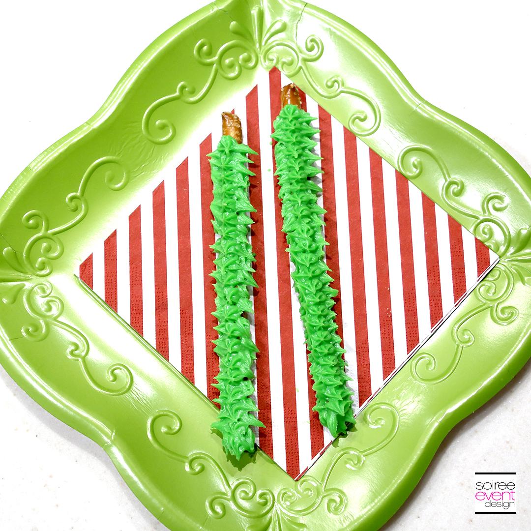 Grinch Dessert Ideas - Grinch Fingers Pretzels 1