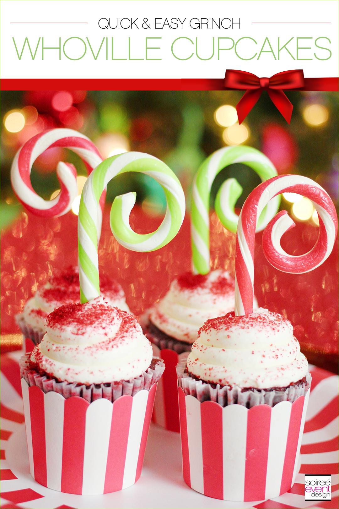 Grinch Dessert Ideas - Whoville Cupcakes