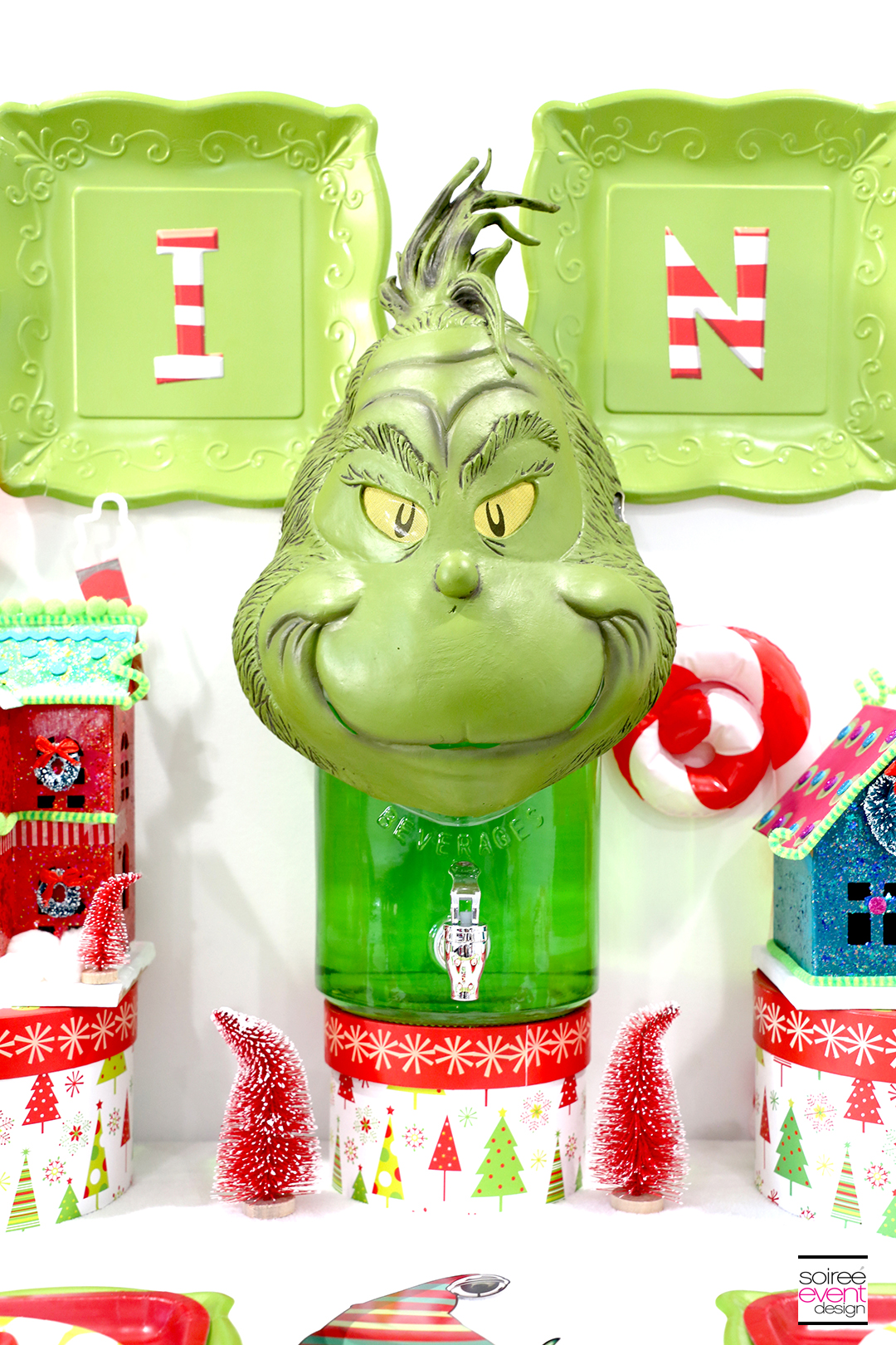 Grinch Party Ideas - Grinch Party Drink Dispenser