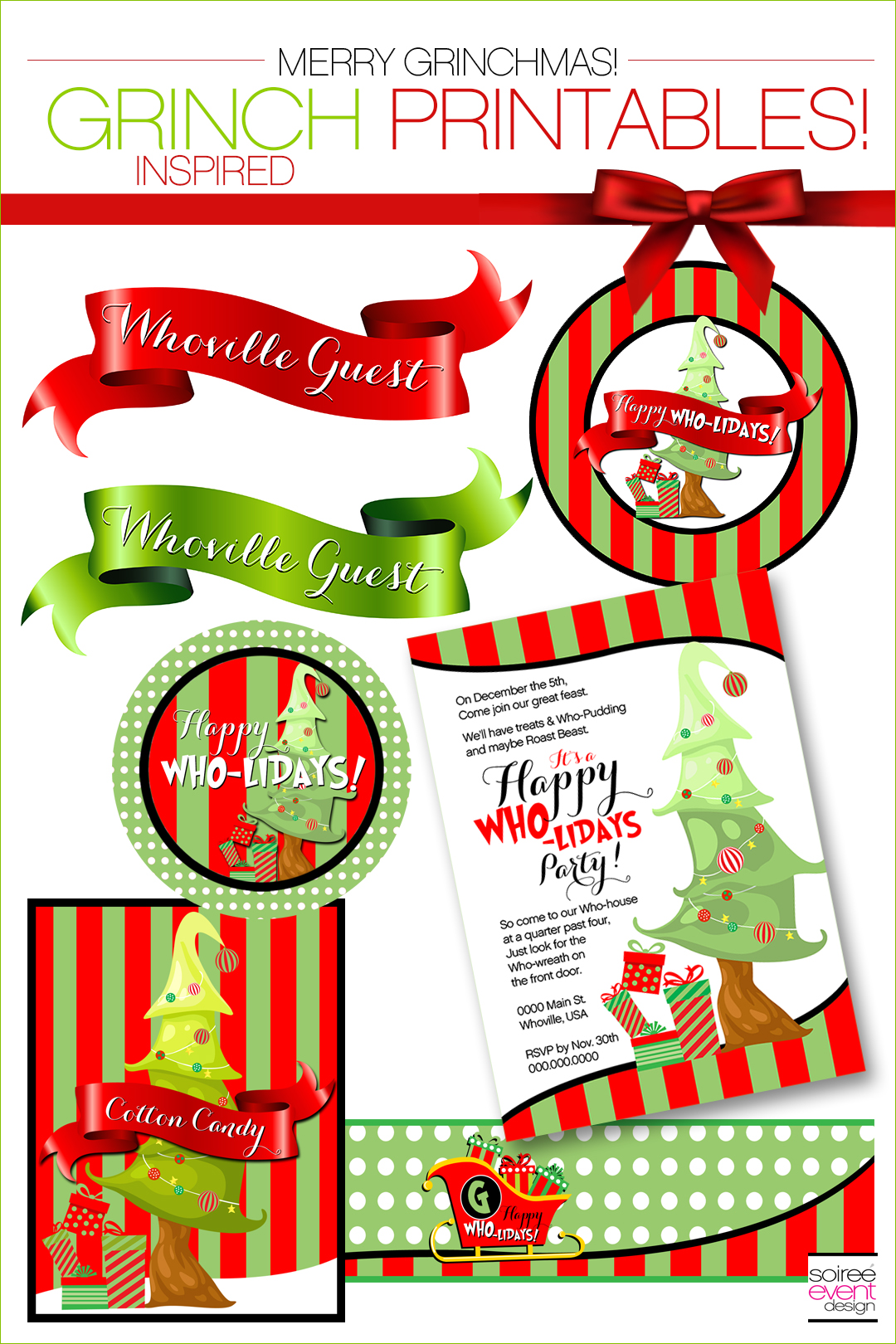 Grinch Party Ideas - Grinch Party Printables