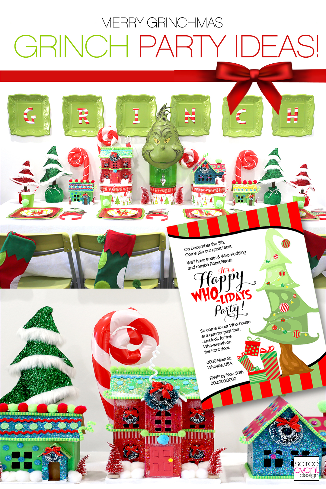 Grinch Party Ideas - Soiree Event Design