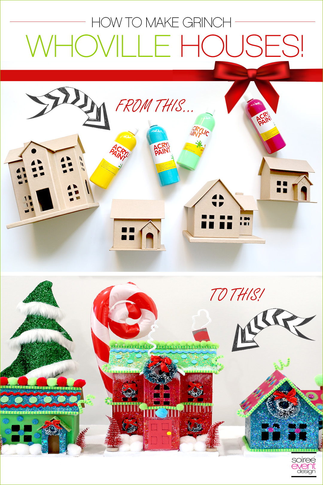 Grinch Party Ideas - Whoville Houses
